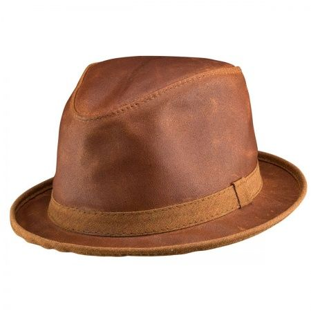 available at  VillageHatShop. Head  N Home Soho Crushable Leather Trilby  Fedora Hat ... ca82513fb3b