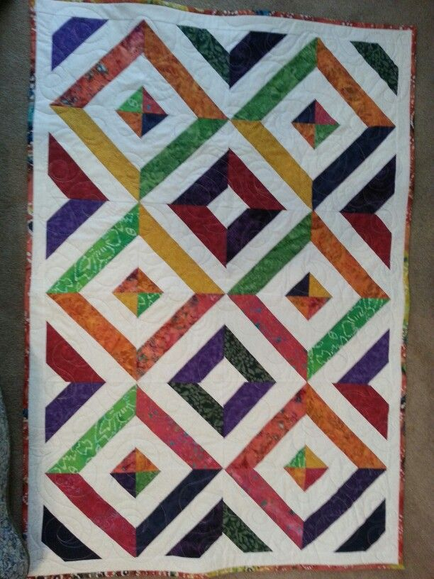 My Summer in the Park quilt. Watched the YouTube video from ... : youtube patchwork quilt videos - Adamdwight.com