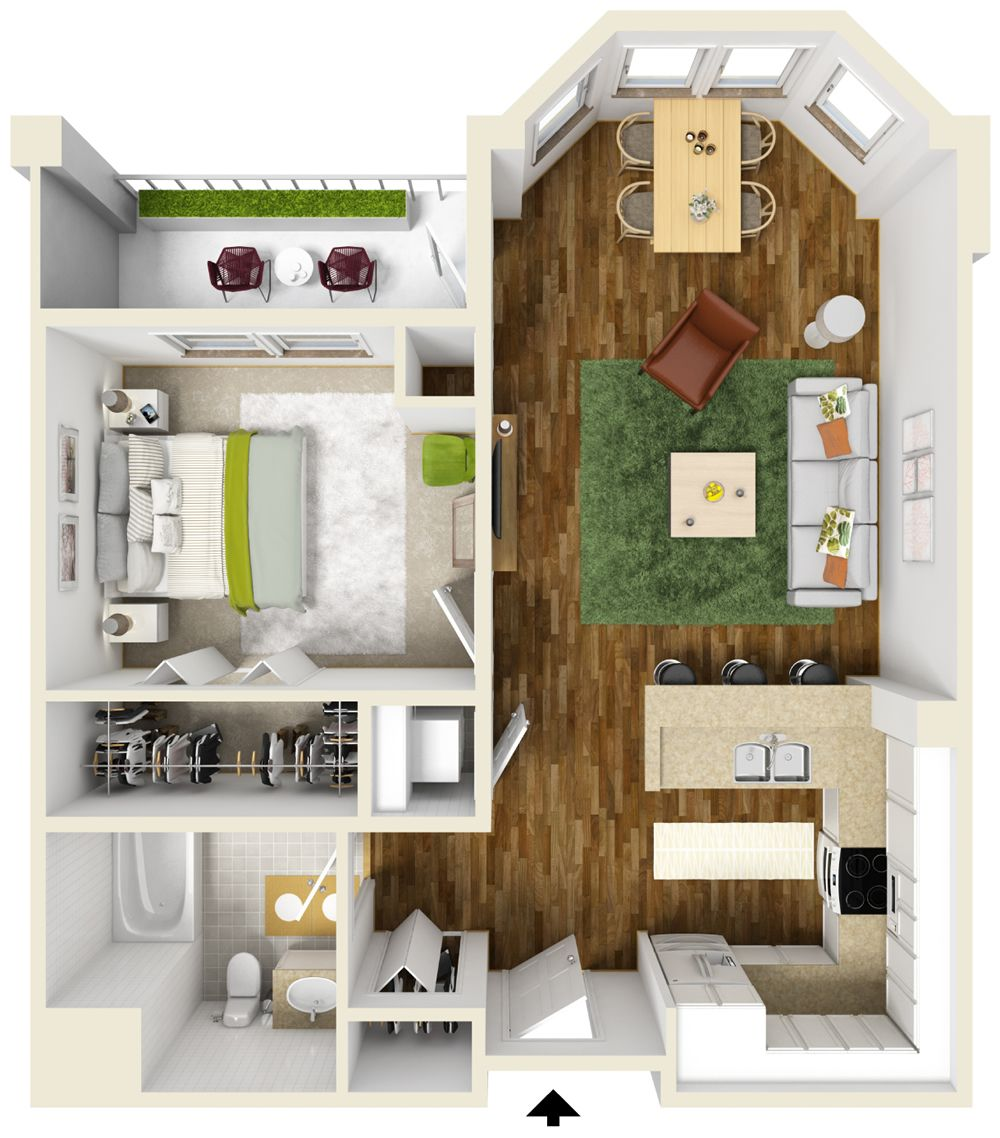 One Bedroom Apartment Floor Plans Queset Commons Ideas For The House  Pinterest Home Interiors And