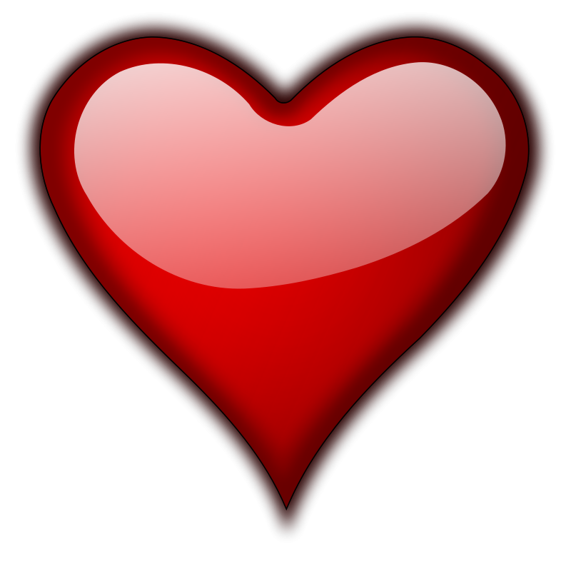 Free Stock Photo: Illustration of a red heart isolated on ...