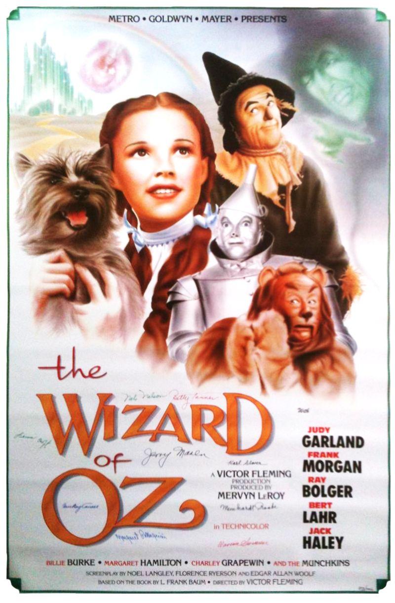 metrogoldwynmayer 1939 movie poster from the wizard