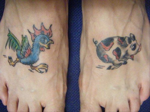rooster and pig tattoo tattoos pinterest tattoos tribal