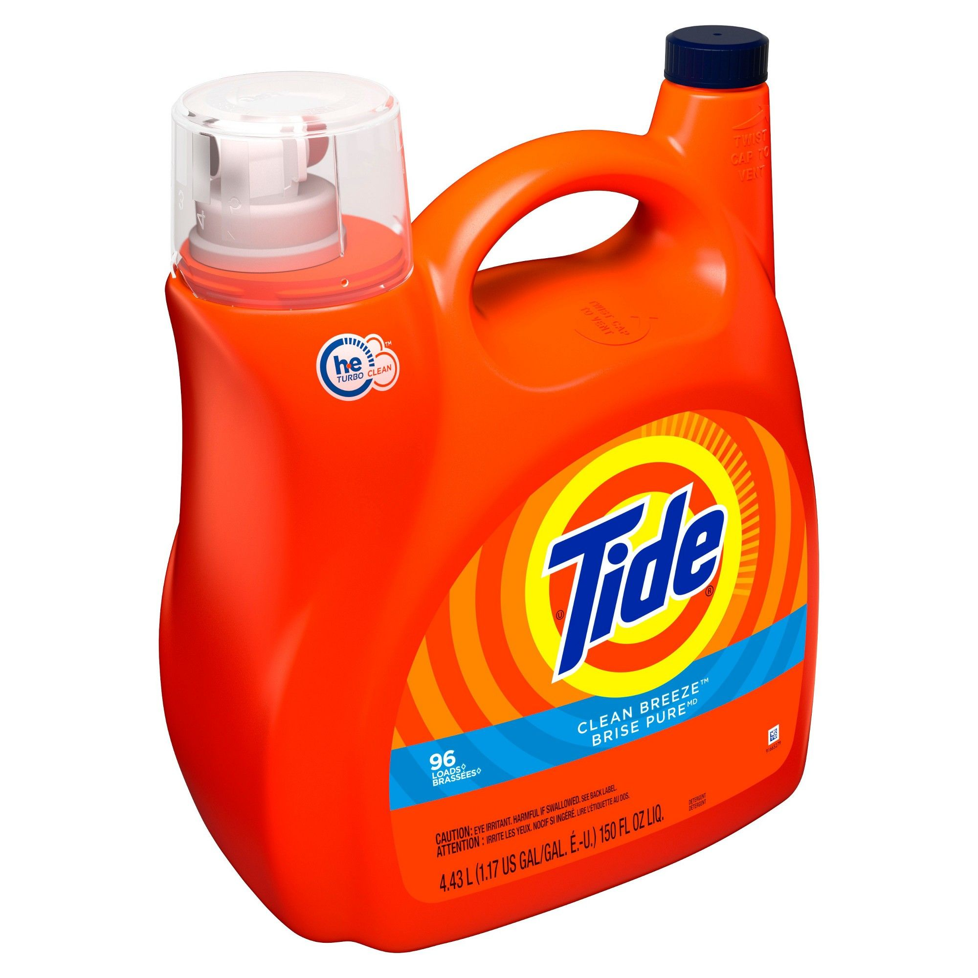 Tide Clean Breeze High Efficiency Liquid Laundry Detergent 150