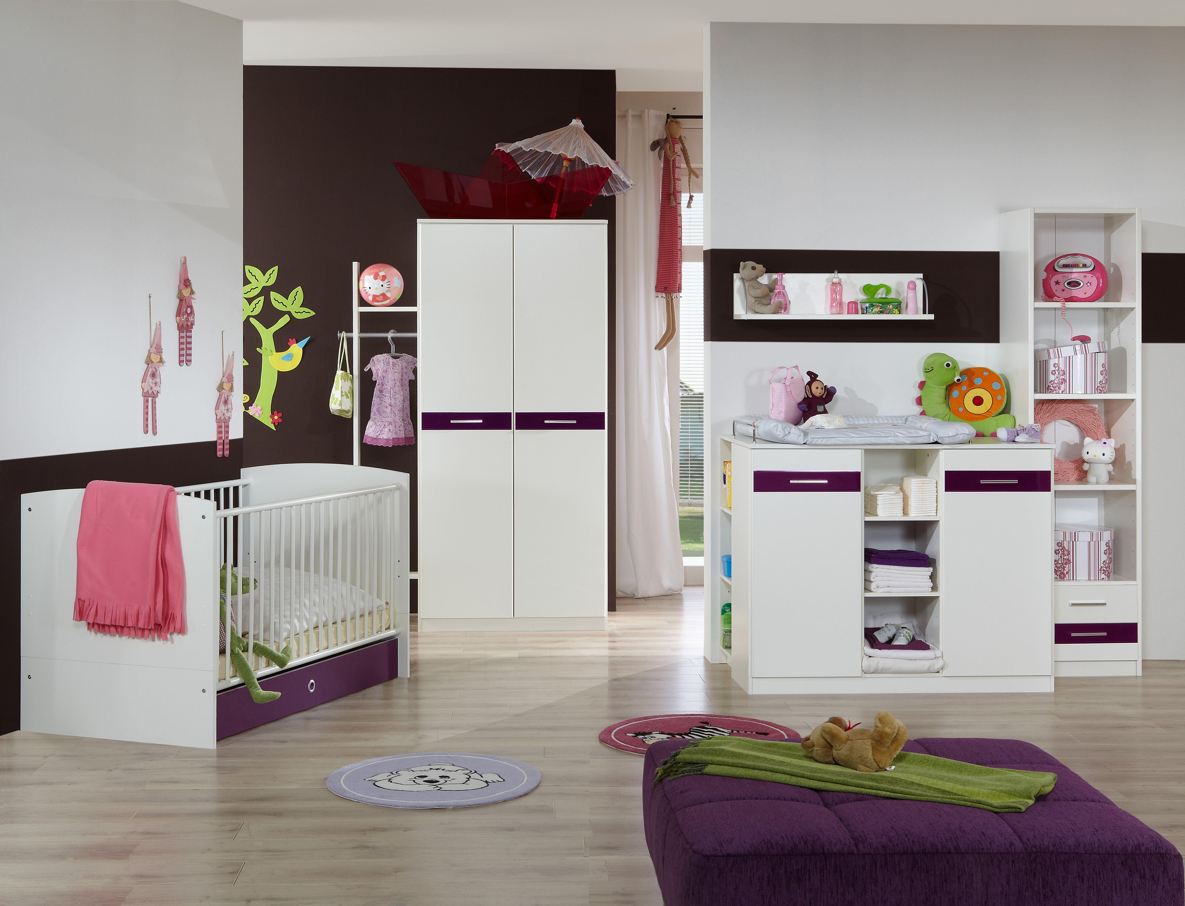 Babyzimmer Mit Bett 70 X 140 Cm Alpinweiss/ Hochglanz