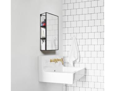 Badkamerkast Met Spiegeldeur.Badkamerkast Cubiko Met Spiegel Metaal Spiegelglas Umbra