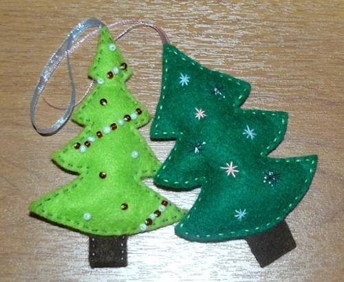 22 Felt Christmas Crafts, Homemade Christmas Tree Decorations