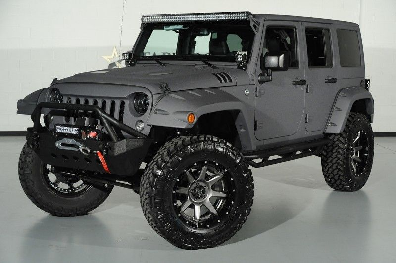 2014 Jeep Wrangler Unlimited In Bentley Matte Satin Grey