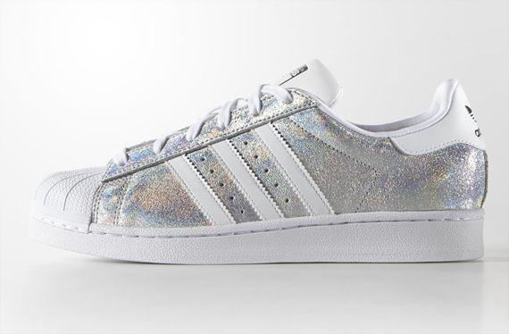 adidas superstar dames glitter zilver