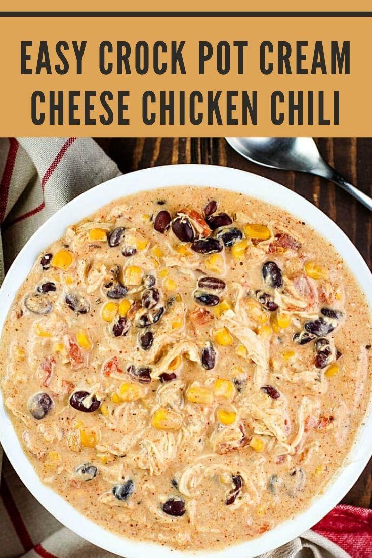 ★★★★★ Easy Crock Pot Cream Cheese Chicken Chili