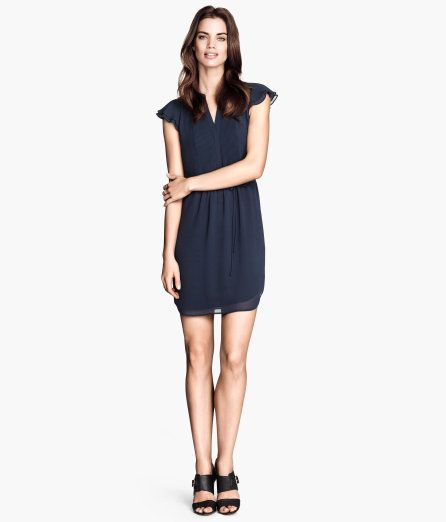 308b4f8da769 Navy blue dress with butterfly sleeves from H&M. | I want. No, I ...