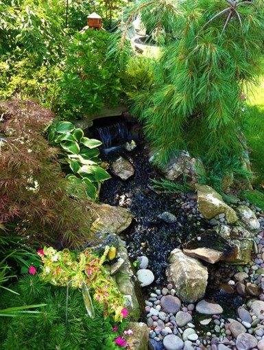 Pondless Waterfall, Front Yard Waterfall Pond and Waterfall Design & Build Landscape Massapequa, NY