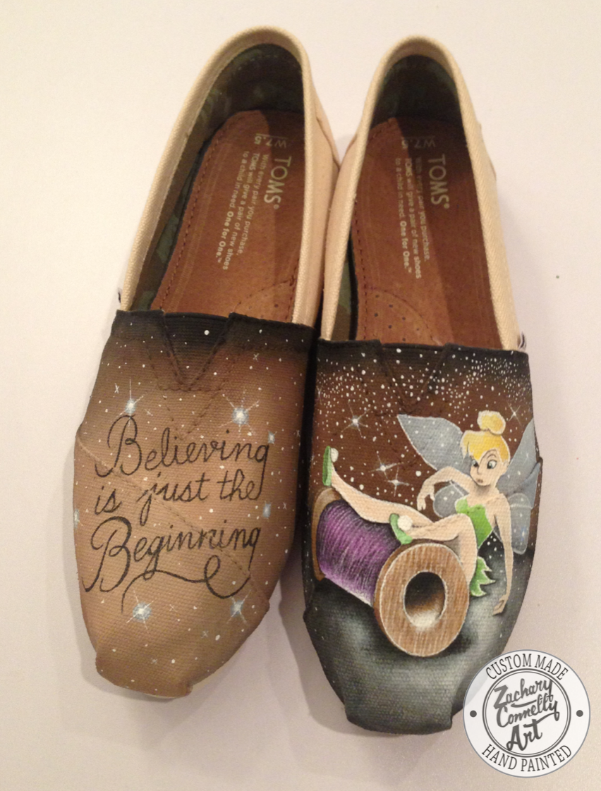 60289ef2ef9 Custom designed hand painted Toms shoes inspired by Disneys Tinkerbell  PLEASE READ BEFORE CONTACTING  Only serious buyers should contact us about  a custom ...