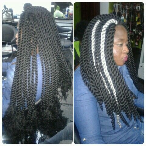 Jumbo Marley Twist Done With Brazilian Wool By Hairxetera Twist Hairstyles African Braids Hairstyles Hair Styles