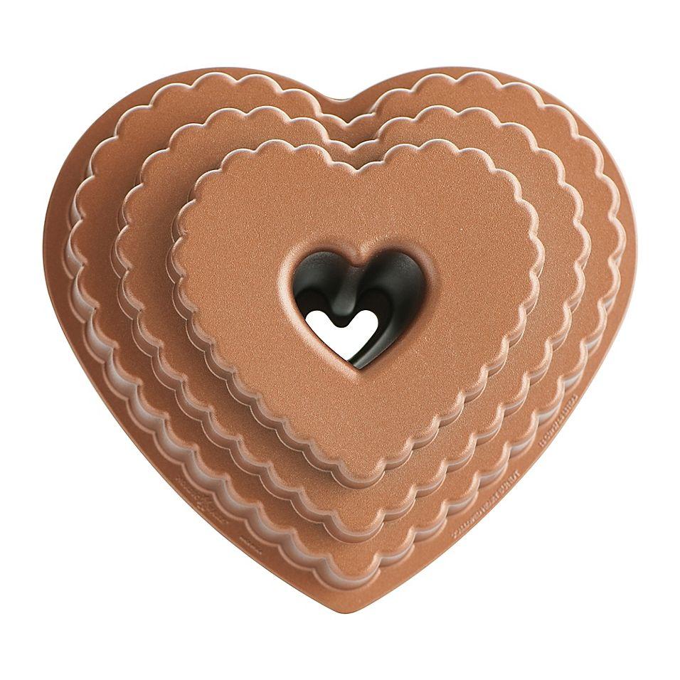 Nordic Ware Tiered Heart Bundt Pan Rose Gold Nordic Ware Bundt Cake Bundt