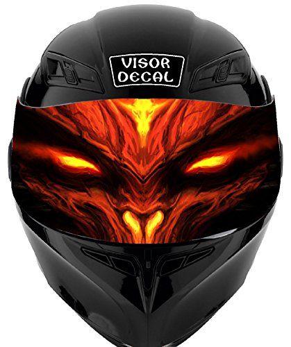V44 devil demon visor tint decal graphic sticker helmet