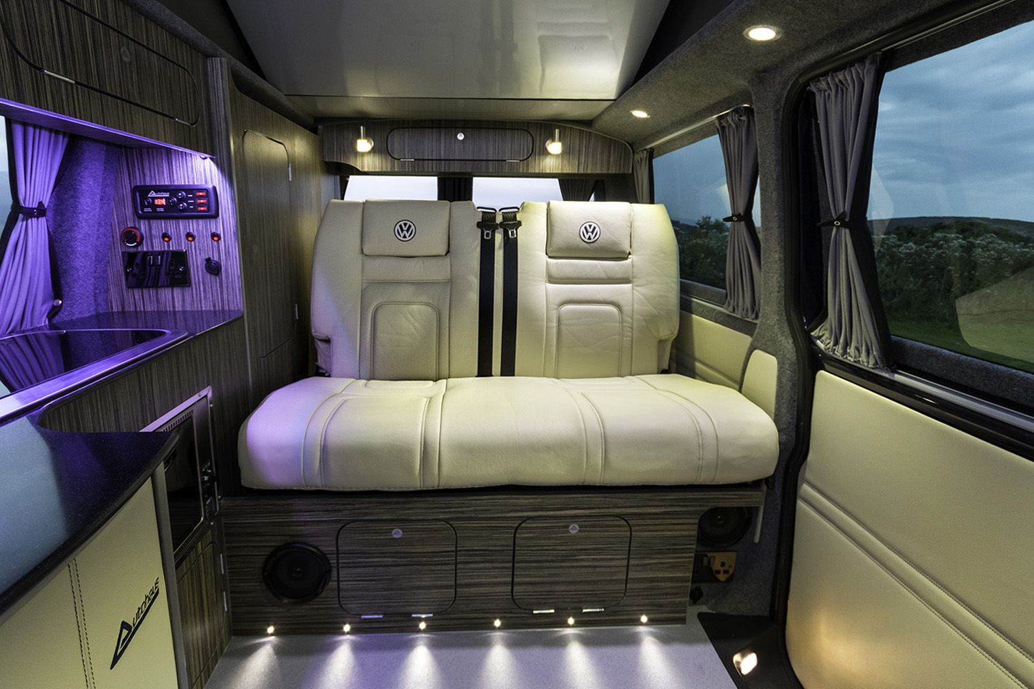Image Result For Black And Purple Campervan Interior