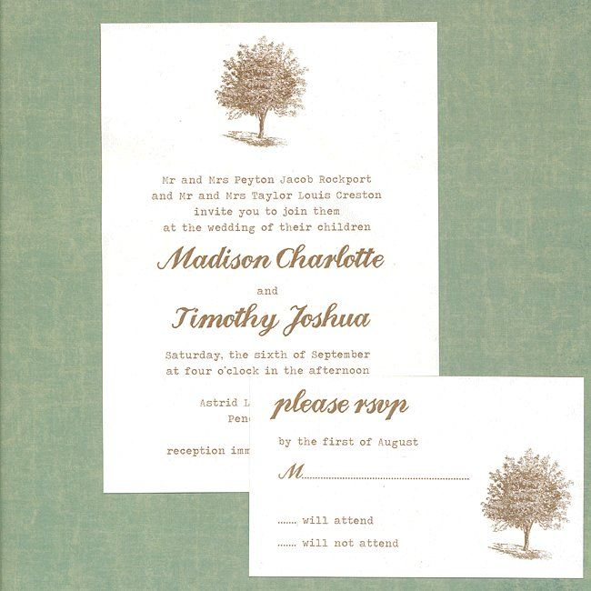 These Tree Wedding Invites Will Show Your Guests That Love Is Deeply Rooted Source