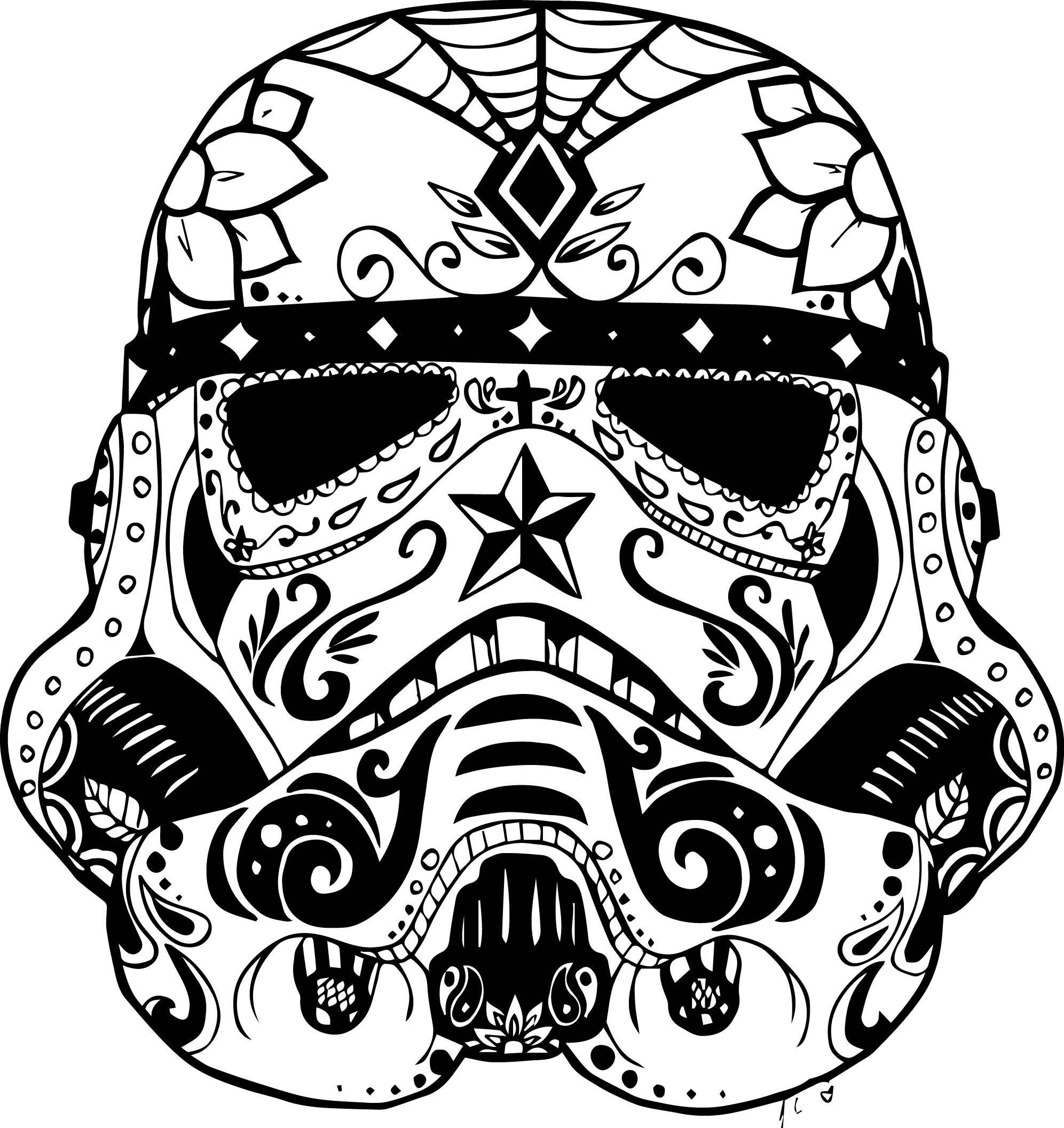 Sugar Skull Animal Colouring Pages Mcoloring Star Wars Zeichnungen Totenkopfillustration Malvorlagen