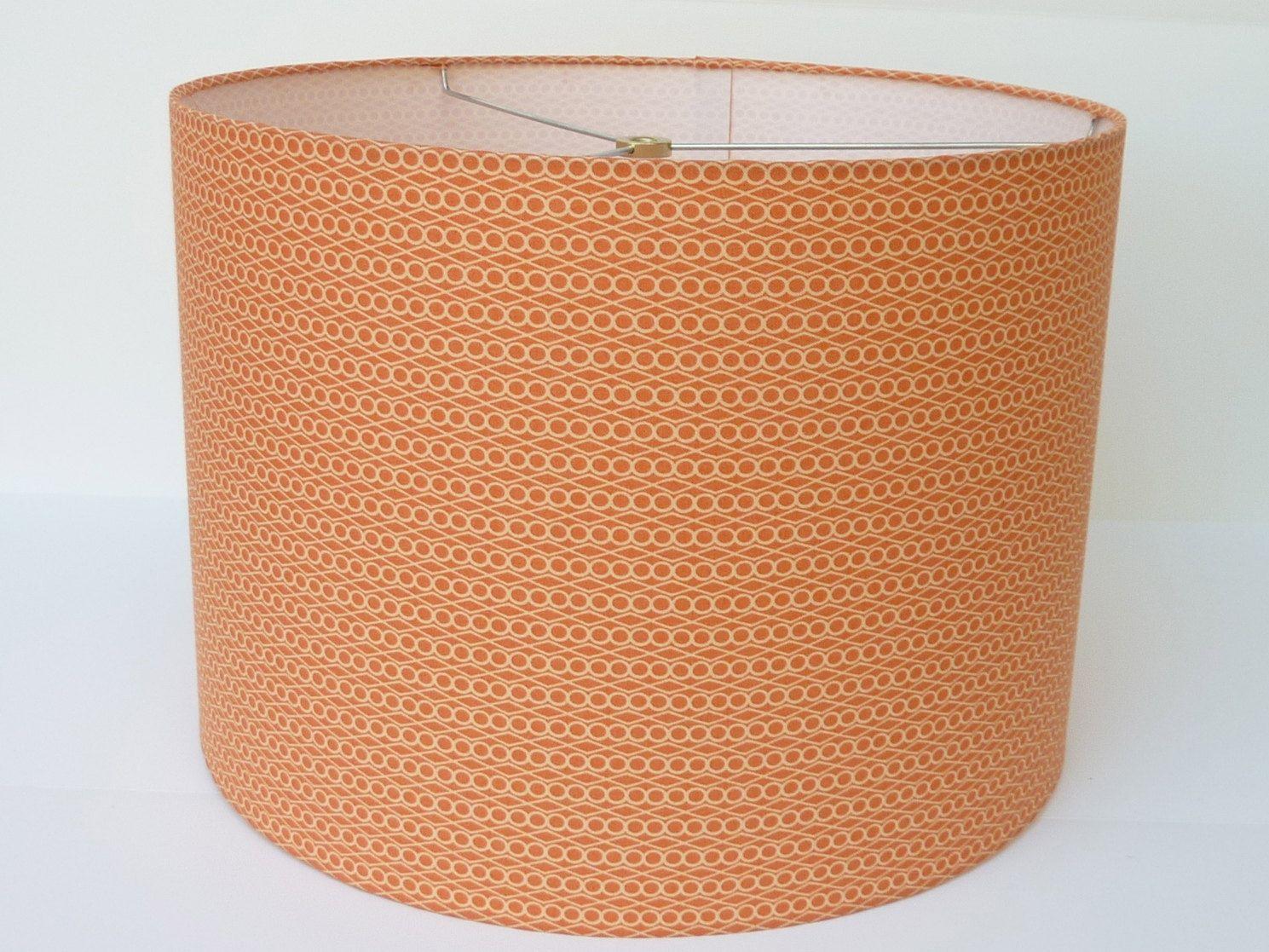 Drum lamp shade in soft orange geometric fabric 6500 via etsy drum lamp shade in soft orange geometric fabric 6500 via etsy aloadofball Gallery