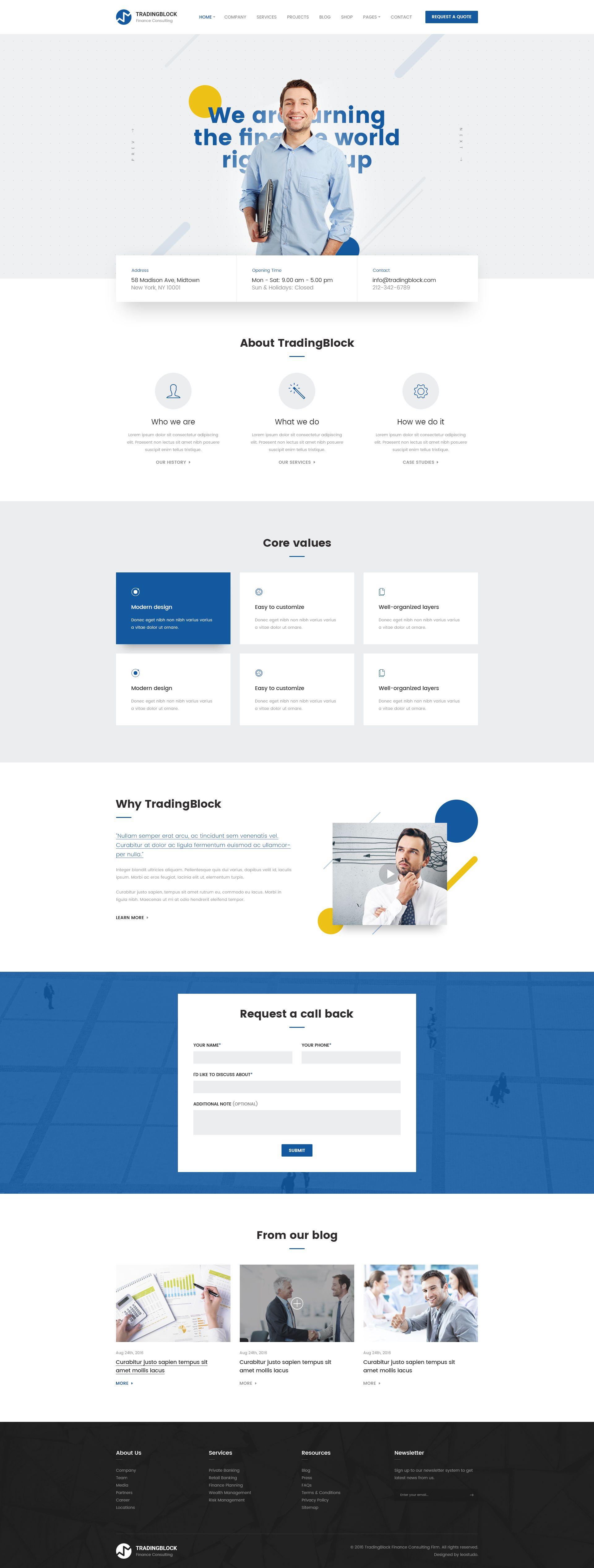 Finance Business Psd Template Tradingblock Web Template Design Web Layout Design Web Design