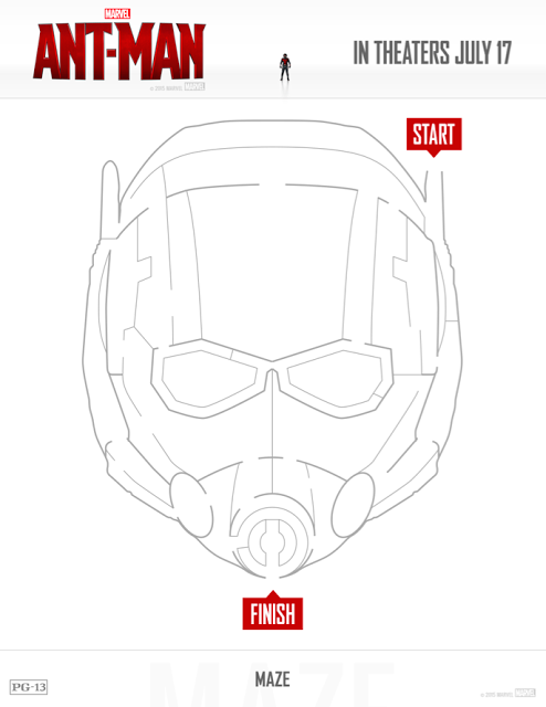 Free Printable Ant Man Coloring Pages Activity Sheets Any Tots Ant Man Ant Man Movie Ant Man Mask
