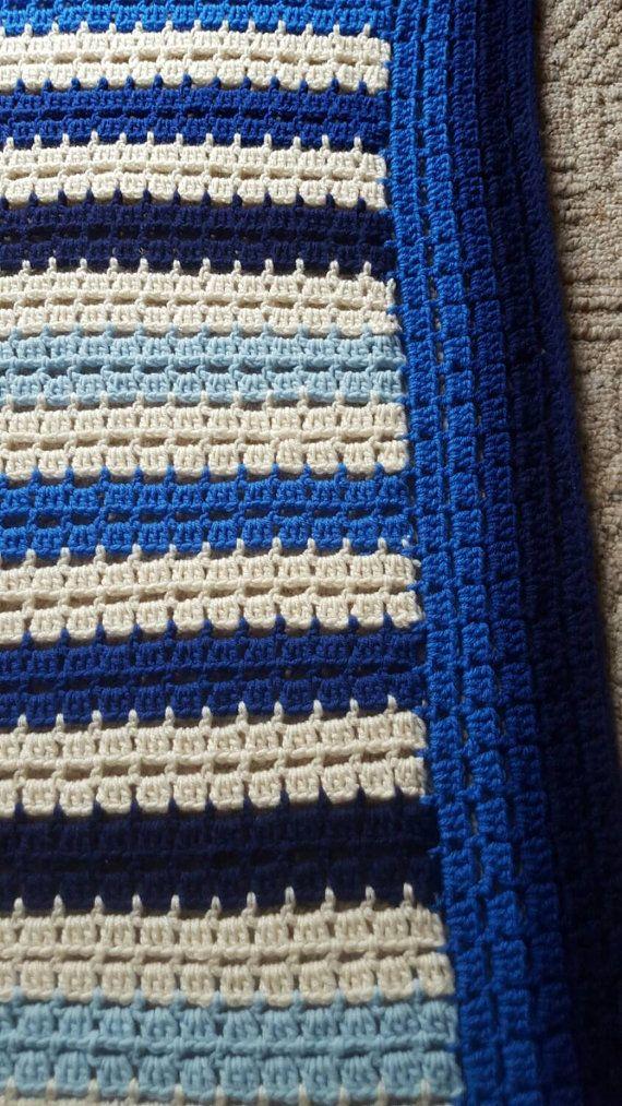 Easy Crochet Afghan Pattern, Blocks & dots, Crochet Blanket Pattern ...