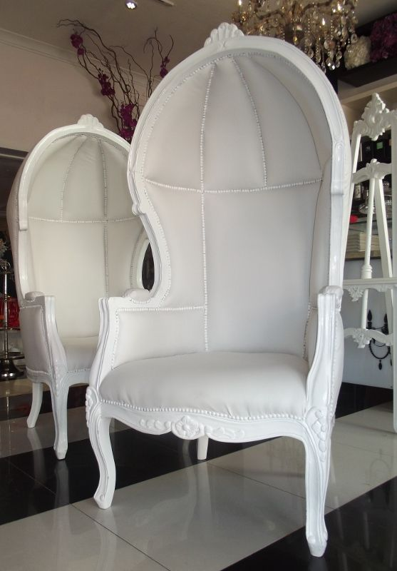 French Canopy Chair Swivel Rocking White Available For Hire At Wed On Beaufort