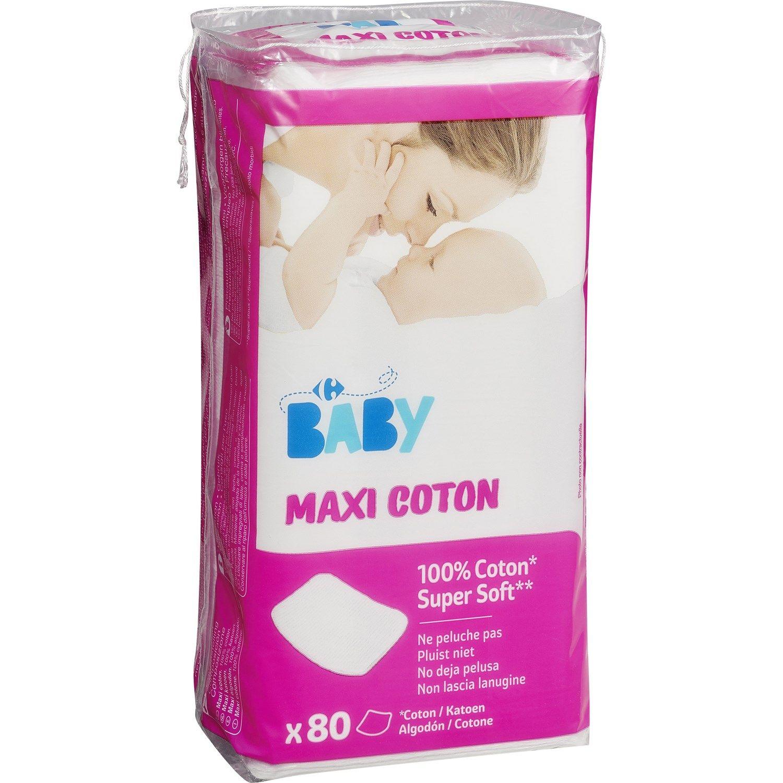 Maxi Coton Carrefour Baby Le Paquet De 80 A Prix Bebe