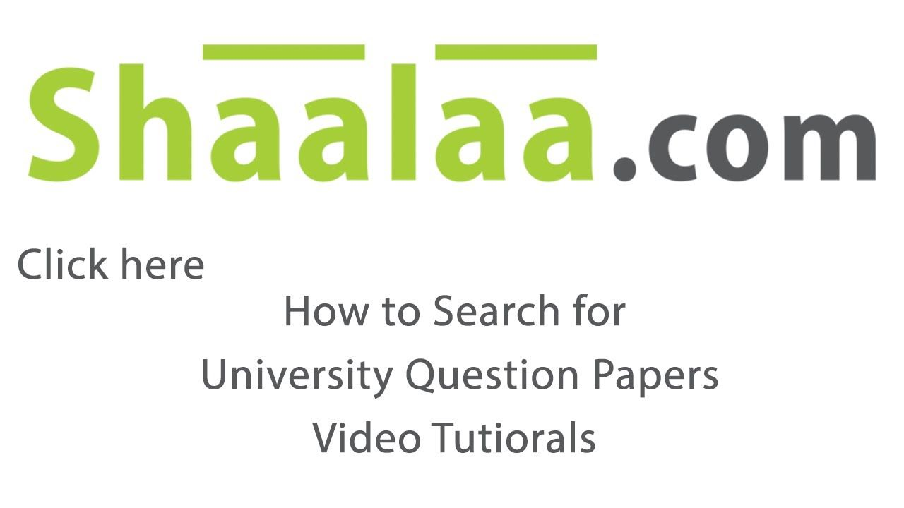 Shaalaa.com How to Search University Question papers on Shaalaa.com?