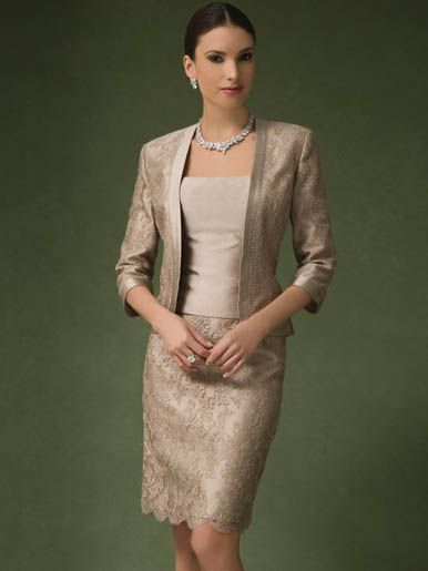 Mother Of Bride Dress And Jacket