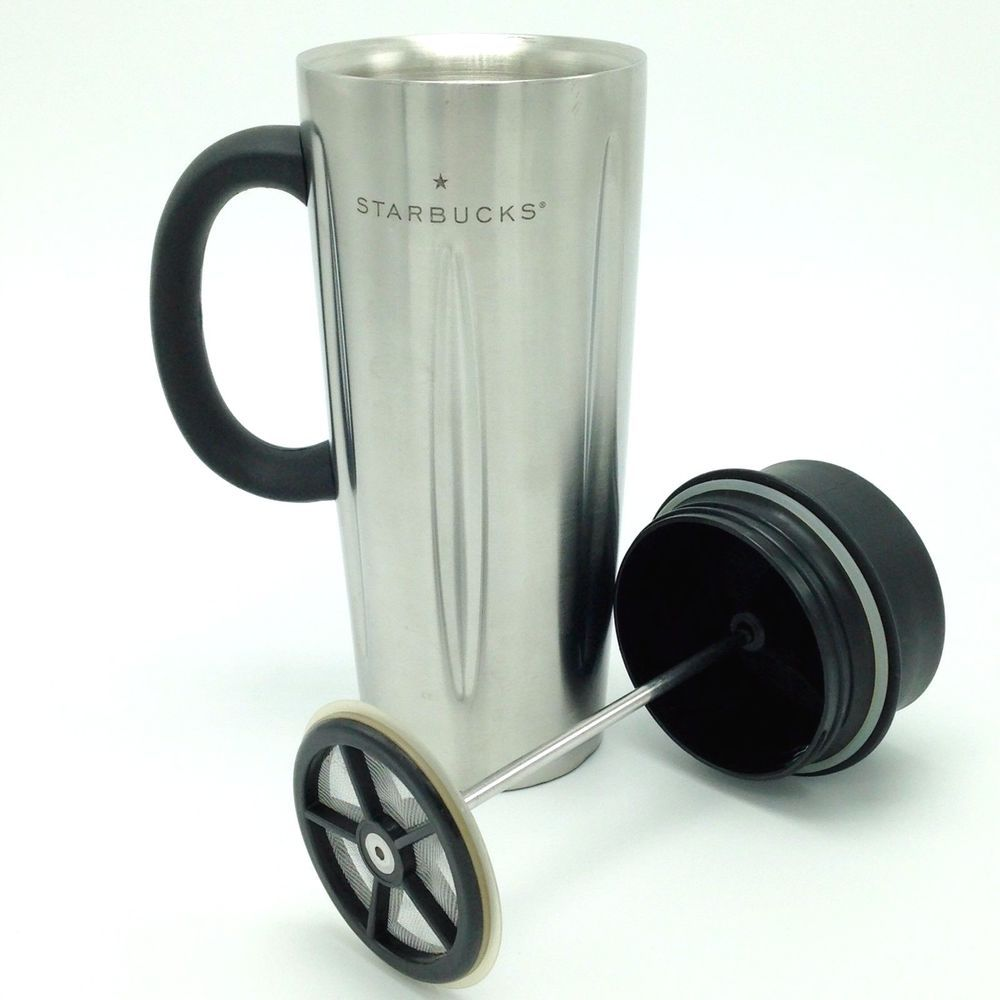 Starbucks Barista Solo Stainless Steel French Press Travel Coffee