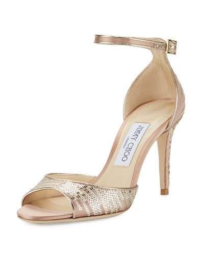 7a3b2271ad2 X3DVJ Jimmy Choo Annie Sequined 85mm Sandal