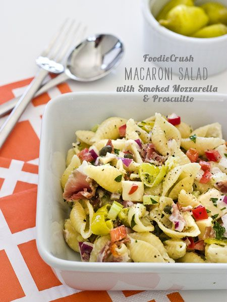Macaroni Salad with Prosciutto and Smoked Mozzarella