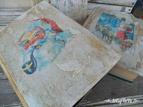 Altered Readers Digest Books. Christmas Decoration CraftsHoliday ...