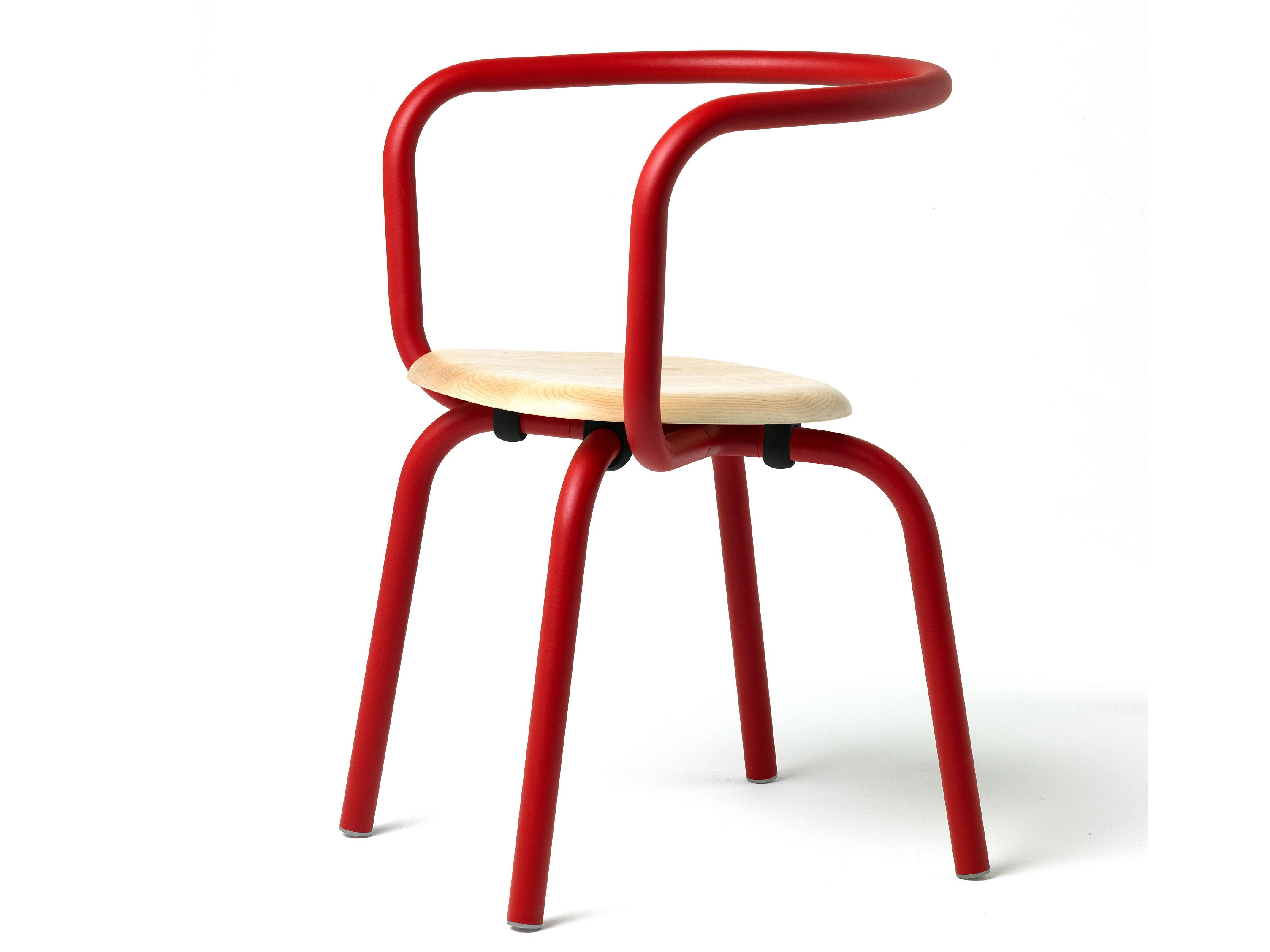 Aluminium and wood #chair Parrish Collection by Emeco | #design Konstantin Grcic
