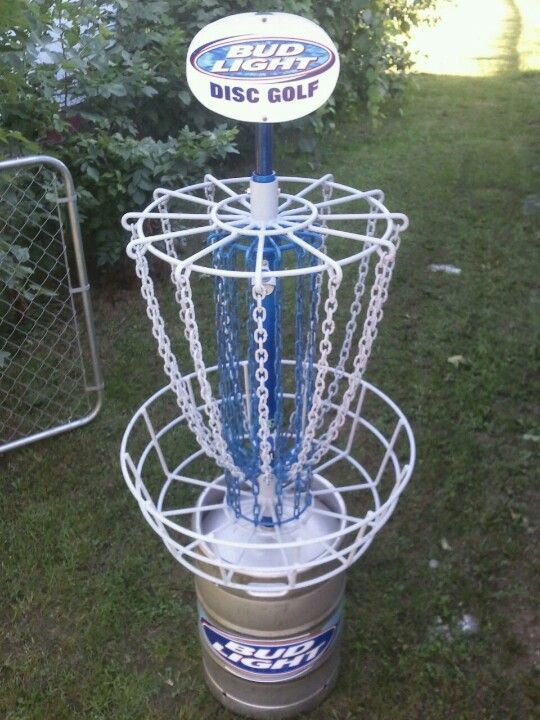 Custom Bud Light Disc Golf Basket One Of A Kind J B