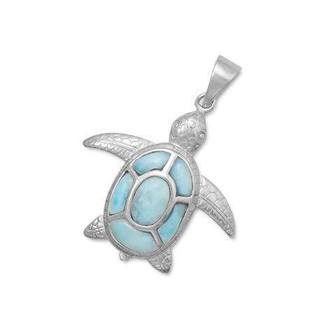 Larimar sterling silver turtle pendant tortugas los tortugas y larimar sterling silver turtle pendant aloadofball Choice Image
