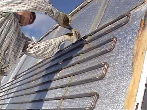Building A Water Heating Solar Panel Wmv Youtube Solar