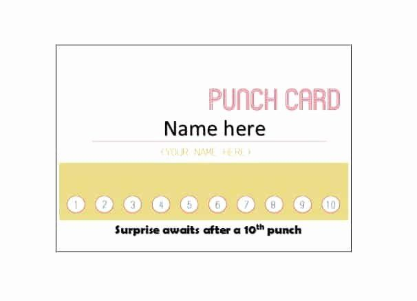 Punch Cards Template Free Luxury 30 Printable Punch Reward Card Templates Free Card Templates Printable Card Templates Punch Cards