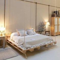 55 Best DIY Pallet Bedroom Design Ideas - Home-dsgn #palletbedroomfurniture