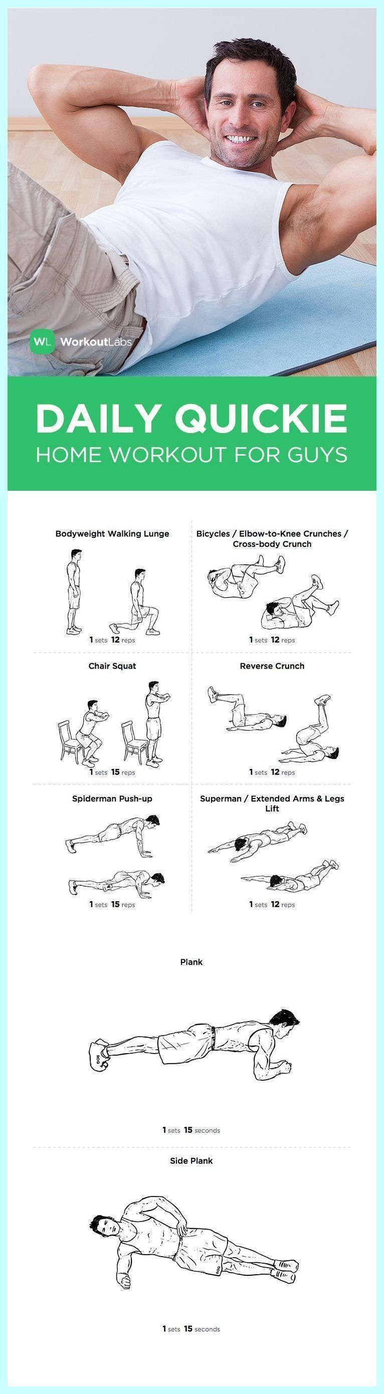 FREE PDF: Daily Quickie Essential at Home Workout for Guys – visit wlabs.me/1tuD3Ci to downlo…