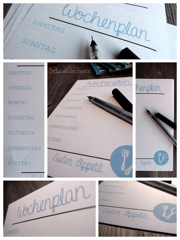 Schneiderherz | Home Management Binder | Pinterest | Speiseplan ...