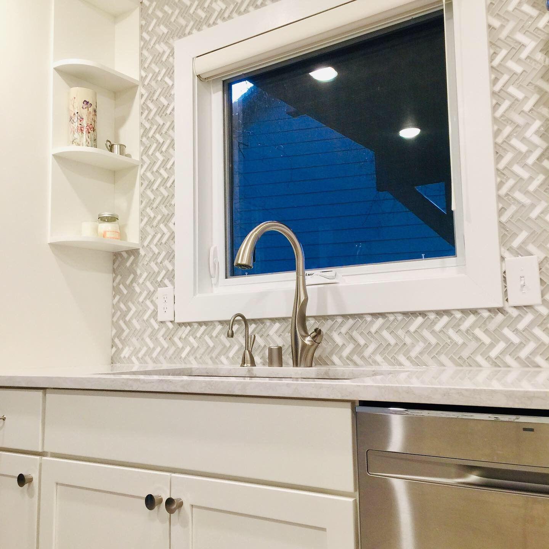 White Kitchen Remodel White Kitchen Remodeling Kitchen Remodel Lighted Bathroom Mirror [ 1440 x 1440 Pixel ]