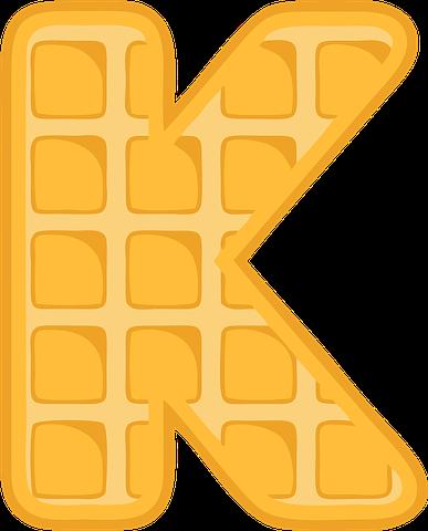K Alphabet Waffle Letter Alphabet Alphabet Images Free Lettering
