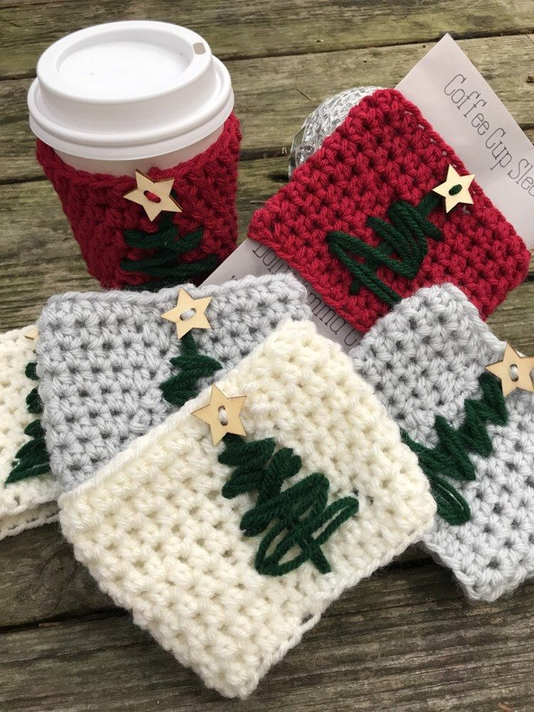 Excited To Share This Item From My Etsy Shop Crochet Coffee Sleeve Crochet Coffee Cup Cozy T Crochet Teacher Gifts Crochet Christmas Gifts Crochet Mug Cozy