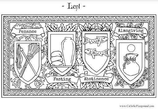 Lenten Coloring Page Catholic Coloring Coloring Pages Lenten Activities