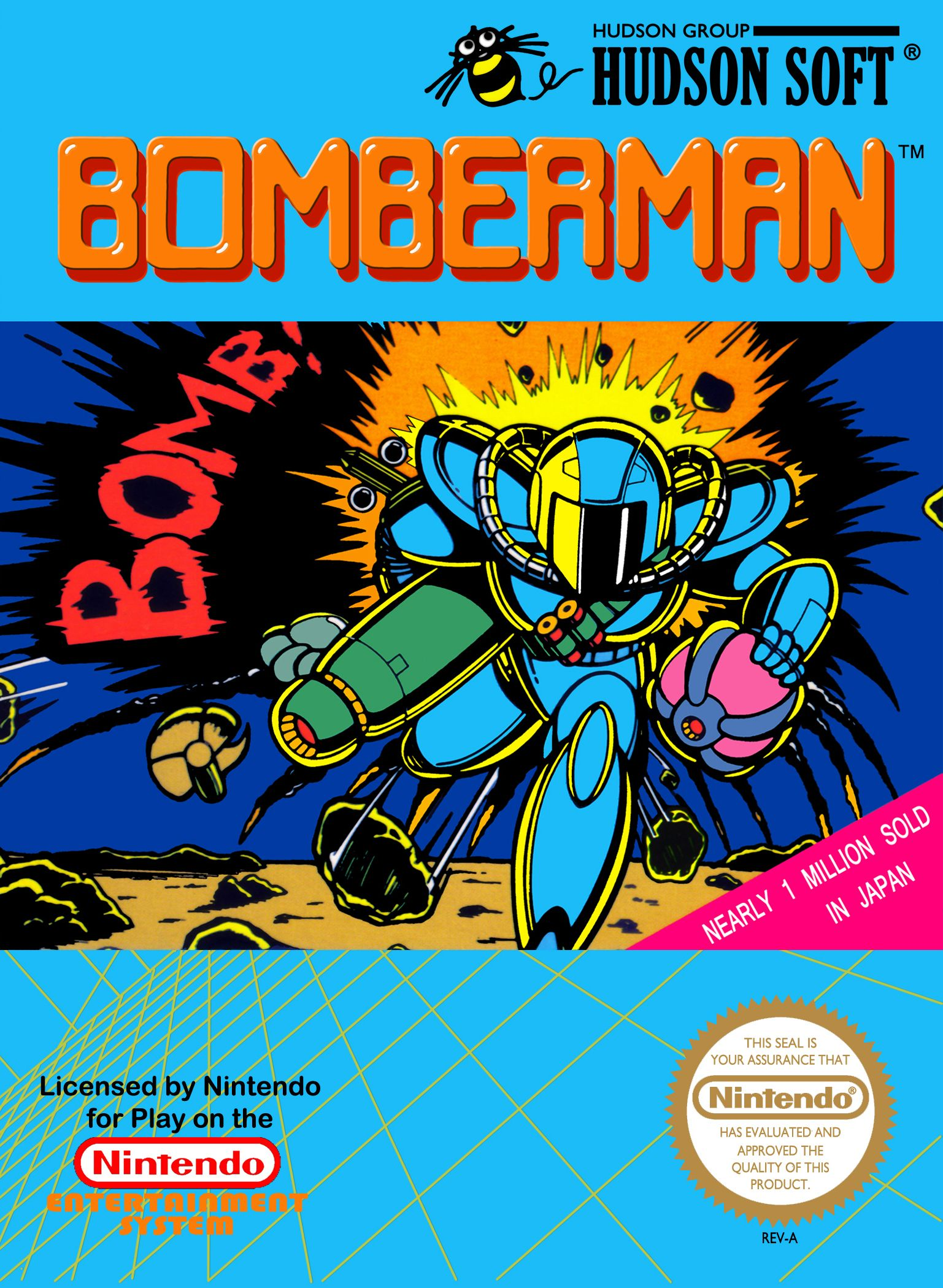 Bomberman Nes Hudson Soft 1989 Nes Games Classic Video