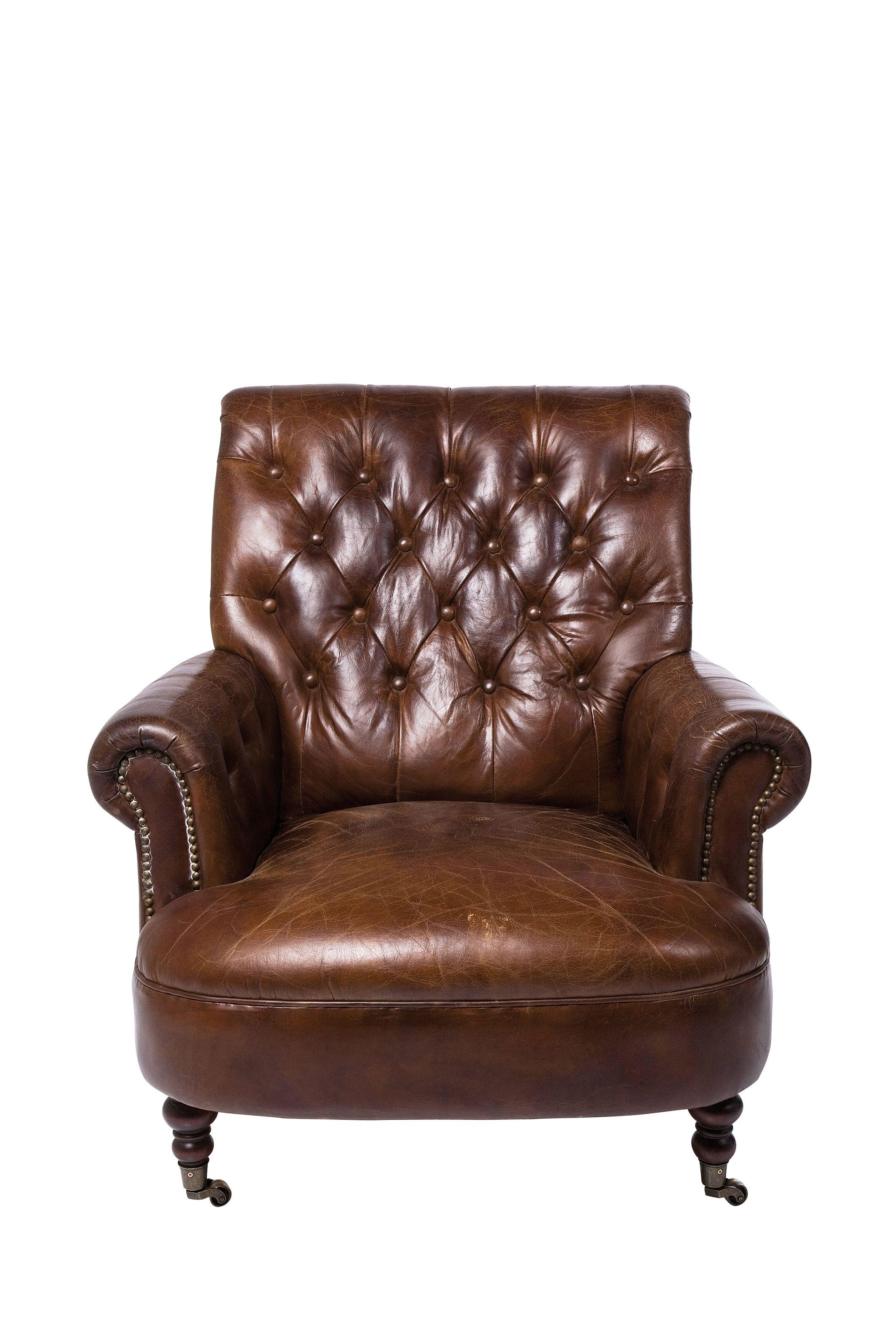 Imposanter uriger Sessel zum Relaxen Bezug aus feinstem