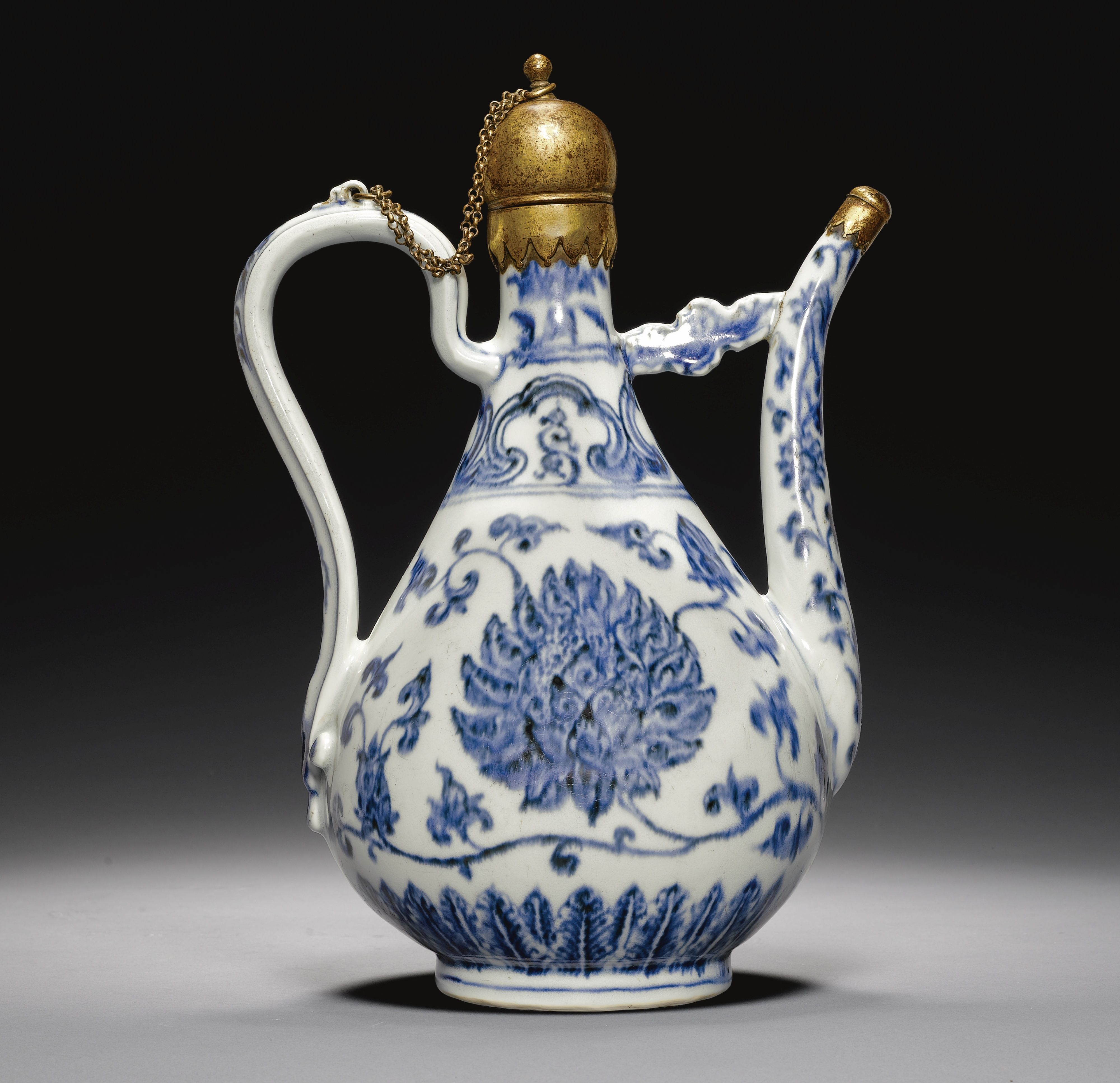 A Rare Blue And White Porcelain Ewer Made For The Islamic