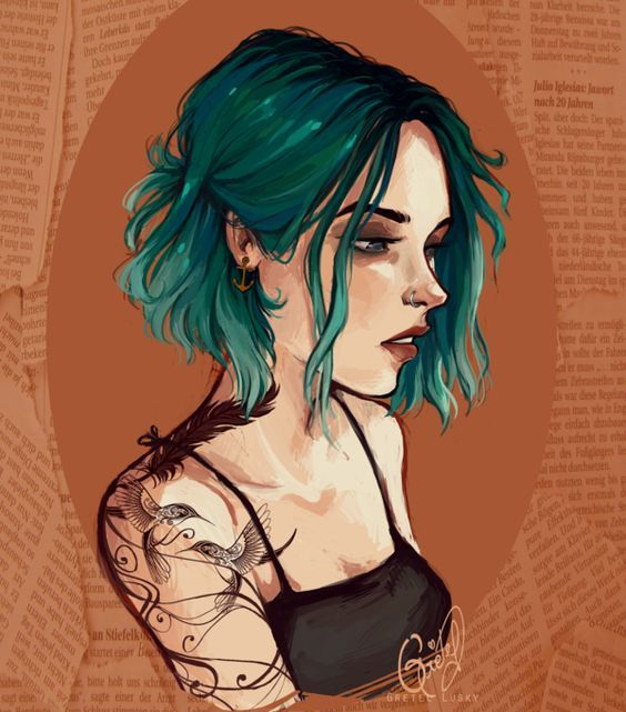 Style Of Hair Color Greens Blues But A Little More Blues